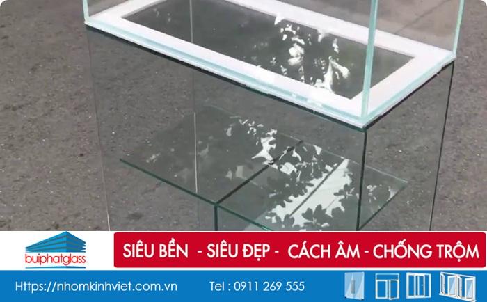 Các mẫu bể cá kính siêu trong tphcm đẹp bền kích thước theo yêu cầu