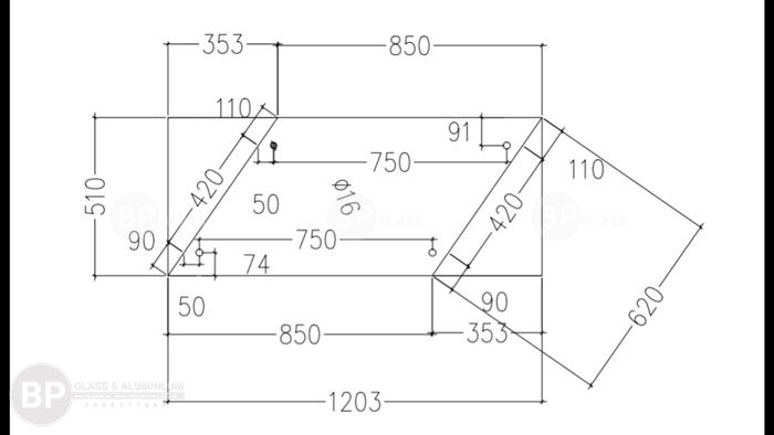 Cách đo kính cầu thang không cần dưỡng