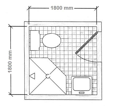 Diện tích bao nhiêu thì làm vách kính phòng tắm?