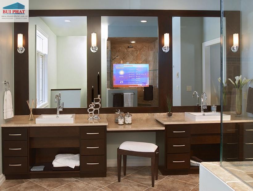 Gương dán tường cho phòng tắm tiện nghi