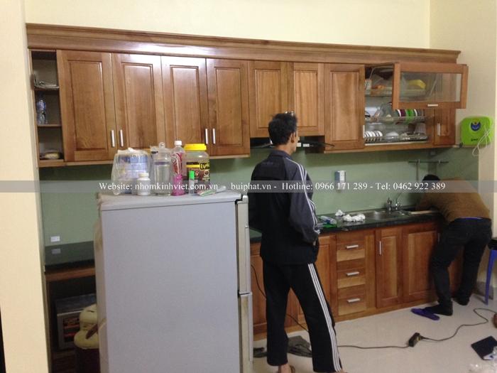 Kính ốp bếp nhà anh Nghiệp Kim Liên