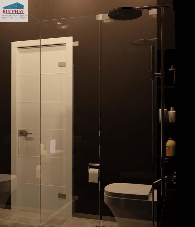 Lắp vách tắm kính sang trọng cho nhà Hòa - Q.Tân Bình, HCM