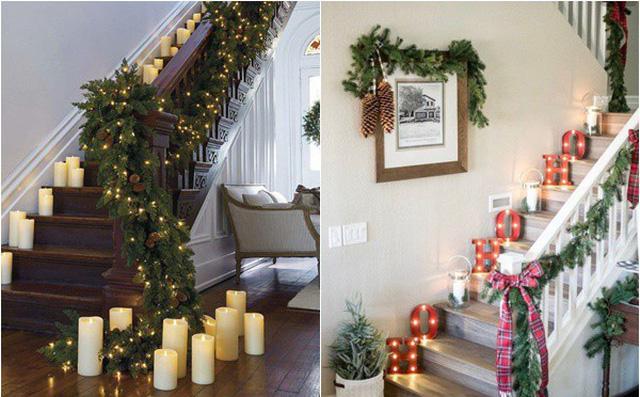 Mẫu cầu thang kính đẹp nhất mùa giáng sinh Noel năm nay
