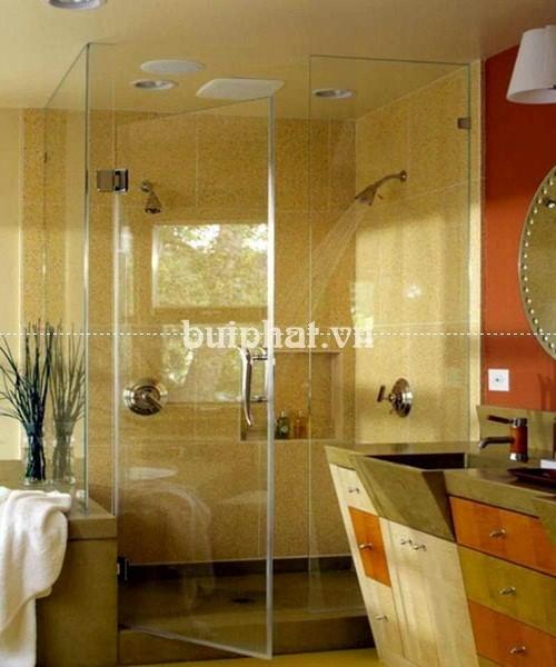 Mẫu phòng tắm kính lục giác đẹp