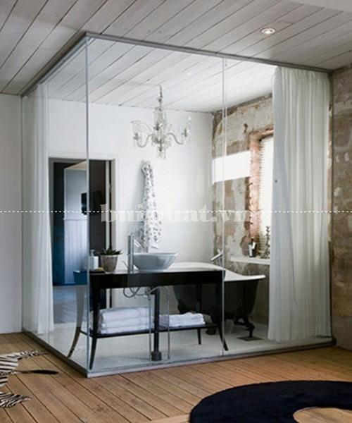 Mẫu vách kính nhà tắm đẹp