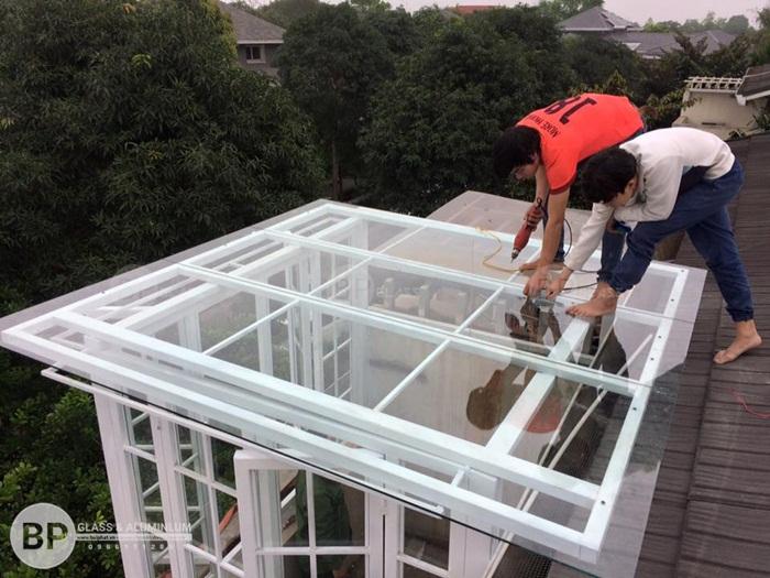 Thi công lắp đặt mái kính trượt tự động thông minh tại Hà Nội, HCM giá rẻ