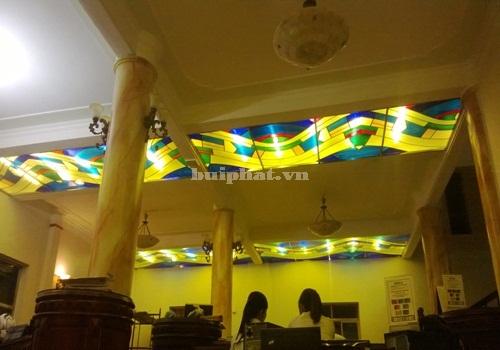 Thi công trần kính nghệ thuật Khách sạn Songkong