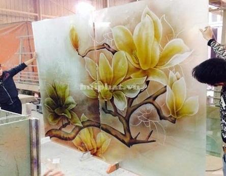 Tranh kính hoa đại nhà bác Trung xuất xưởng