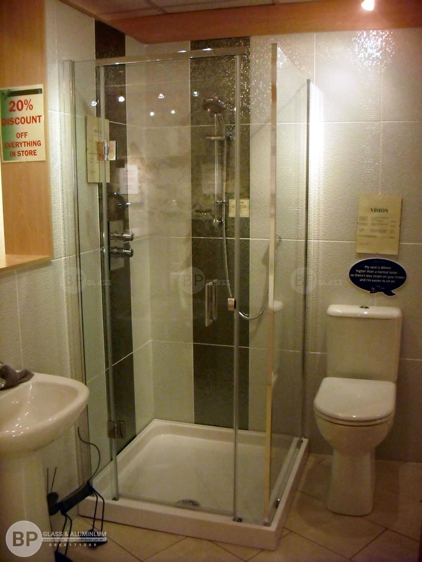 Vách tắm kính,Lưu ý khi lắp đặt phòng tắm vách kính