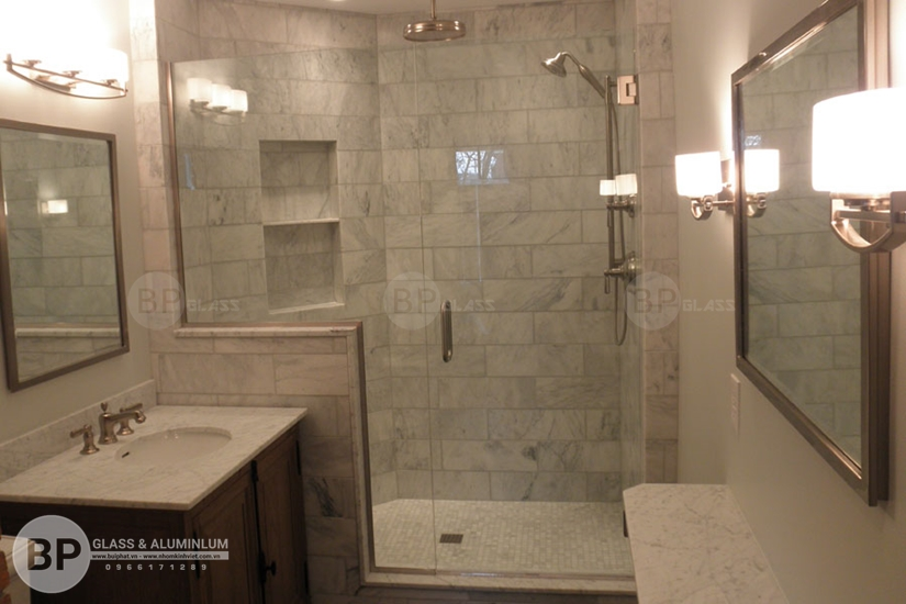Vẻ đẹp khó cưỡng của mẫu vách tắm kính hiện đại