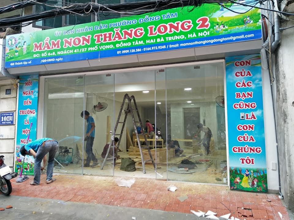 Thi công cửa kính lùa tại Phố Vọng, Hai Bà Trưng, Hà Nội