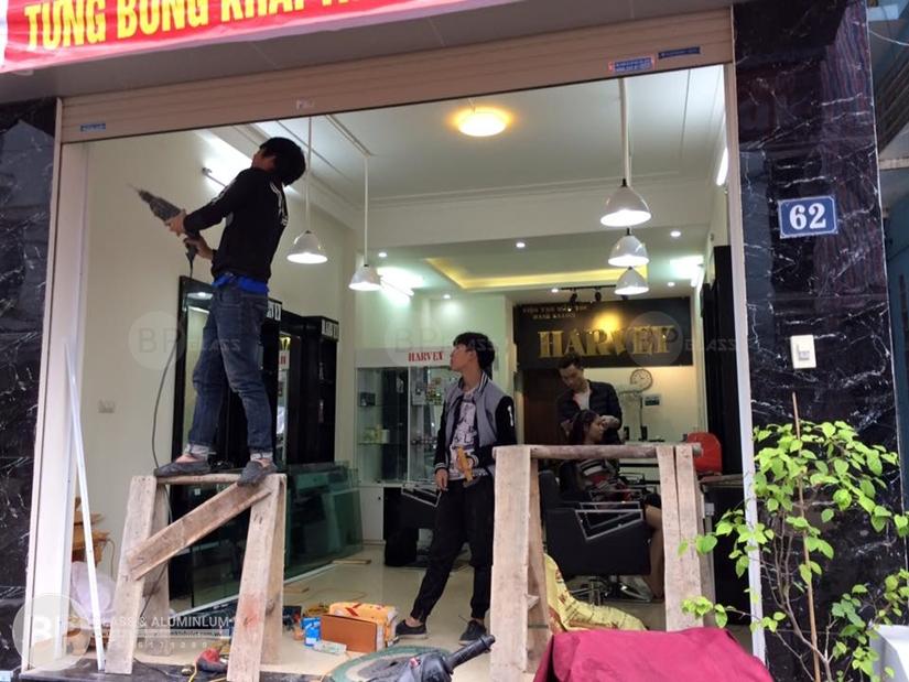 lắp đặt cửa kính cường lực uy tín chất lượng tại Hà Nội.