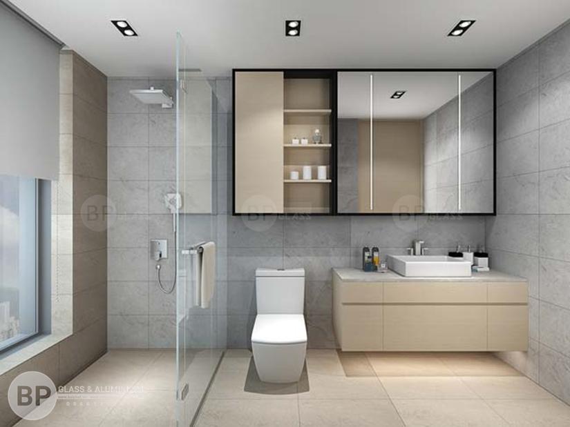 Vách tắm kính đẹp giá rẻ chất lượng hoàn thiện sau 4 ngày