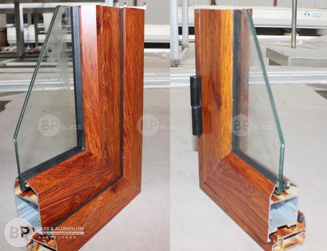 Thanh nhôm hệ màu vân gỗ