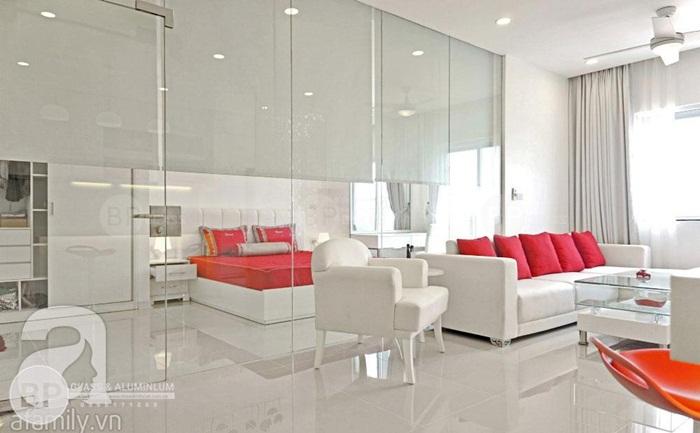 Giúp căn nhà tỏa sáng với vách kính cường lực ngăn phòng